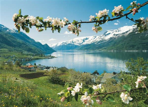 Fiordos de Noruega: Lofthus. Foto: Per Eide/Innovation Norway. (clickear en la imagen para agrandar)