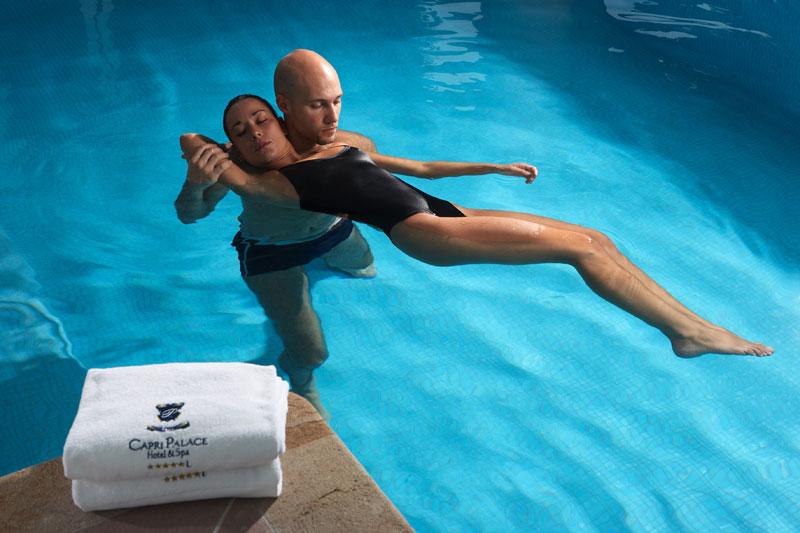 Terapias acuáticas en el spa del Capri Beauty Farm. (clickear en la imagen para agrandar)