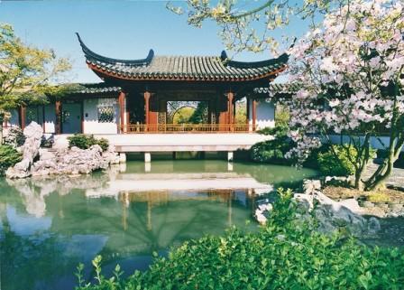 Jardín en barrio chino de Vancouver