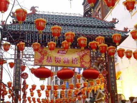 Entrada al barrio chino de Londres