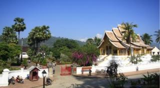 Pueblos laosianos para el relax